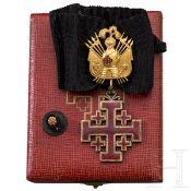 Orden vom Heiligen Grab zu Jerusalem - Komturkreuz mit Trophäe im Etui