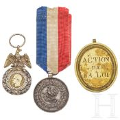 Drei Medaillen, 19. Jhdt.
