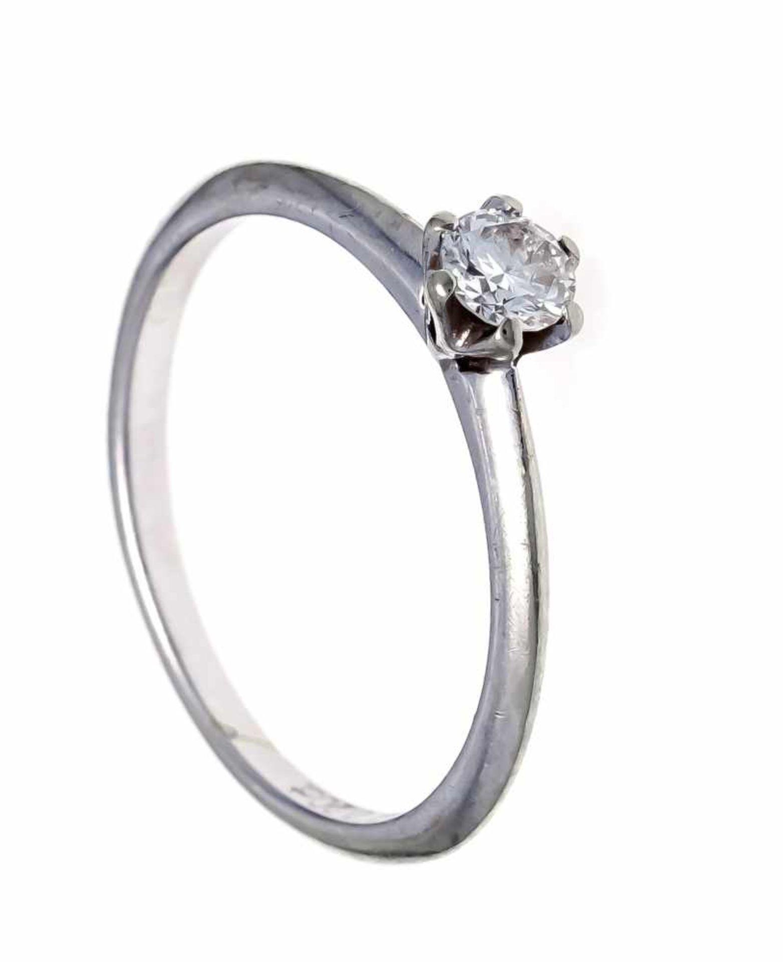 Brillant-Ring Christ WG 585/000 mit einem Brillanten 0,20 ct TW/SI, RG 54, 1,9 gDiamond ring