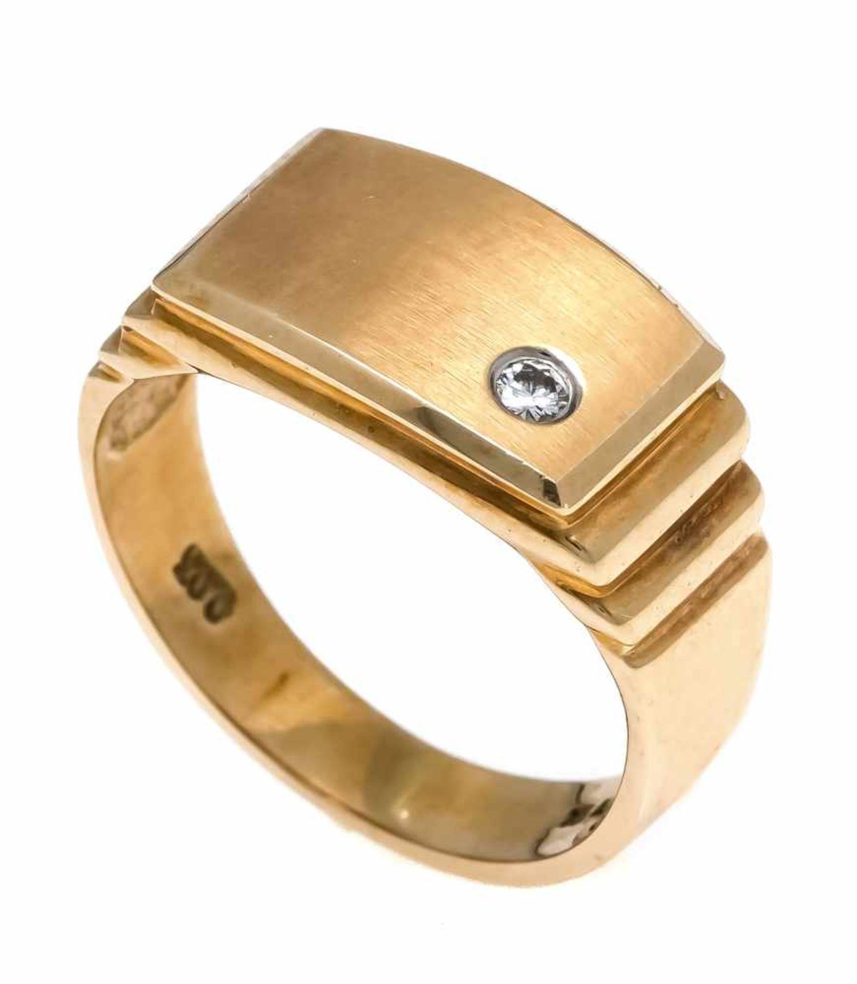 Brillant-Ring GG 585/000 mit einem Brillanten 0,03 ct W/SI, RG 49, 4,2 gDiamond ring gold 585/000