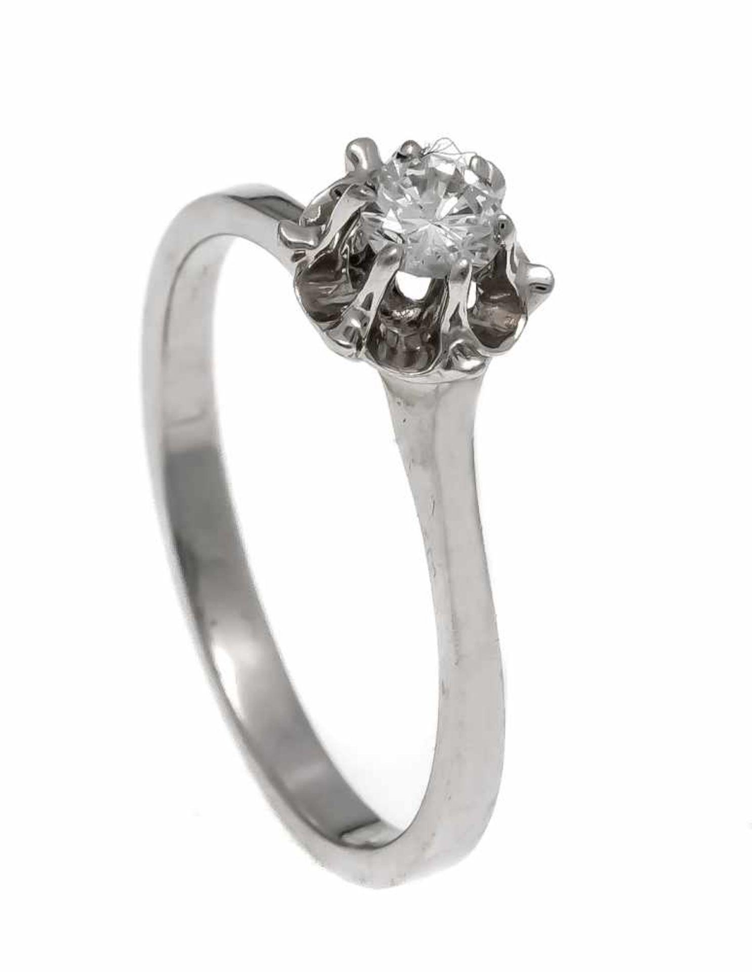 Brillant-Ring WG 585/000 mit einem Brillanten 0,25 ct W/SI, RG 56, 2,7 gDiamond ring WG 585 / 000
