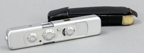 Minox 35 mm camera, Germany, 2nd half of 20th century, with matching case (slightly damaged), l.