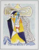 Pablo Picasso (1881-1973), after, ''Tête de Femme au Chapeau'', colored granolithography after a