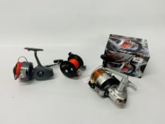 3 VARIOUS FISHING REELS TO INCLUDE BOXED VIGOR SILK LINE, PENN 190 SEABOY,
