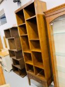 """GRANGE"" PINE FINISH WALL/BOOKCASE WITH 2 DRAWER BASE"