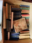 SEVEN BOXES CONTAINING ASSORTED BOOKS TO INCL. MANY CLASSIC NOVELS, HISTORY, GARDENING, ETC.