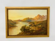 THREE FRAMED OIL ON CANVAS, HIGHLAND SCENES BEARING SIGNATURE F.