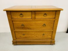 """NOHANT"" OAK 2 OVER 2 DRAWER CHEST"