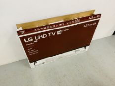 "A LG VHD 49"" A1 THIN Q TELEVISION MODEL 49VK63 WITH BOX AND INSTRUCTIONS - SOLD AS SEEN"