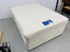 A SILENT NIGHT DOUBLE DIVAN BED WITH MIRACOIL MATTRESS