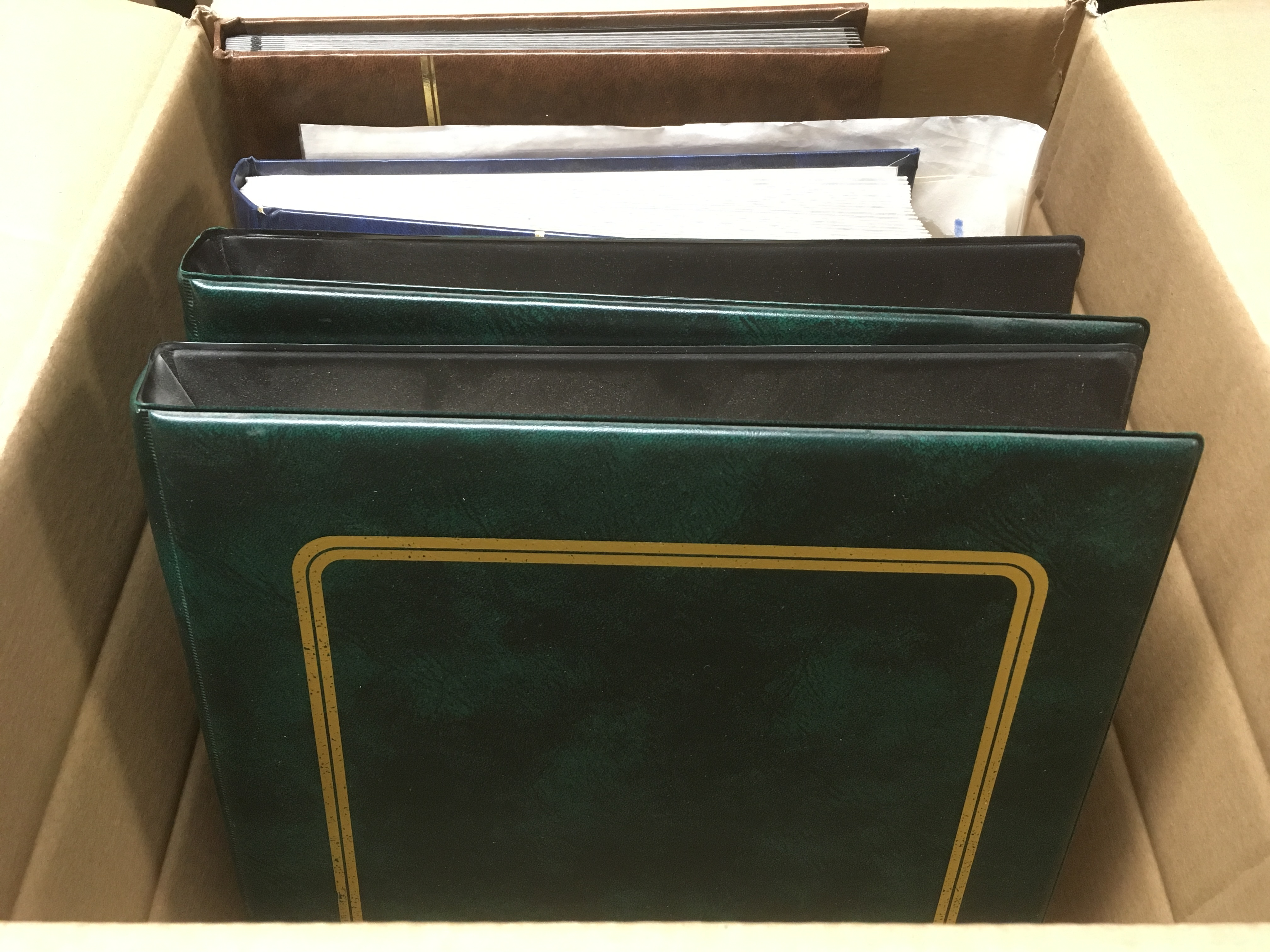 BOX WITH FOREIGN COLLECTION IN TWO BINDE