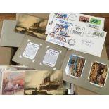 SMALL BOX EPHEMERA, POSTCARDS, BIBBY TRE