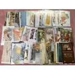 BOX OF MIXED SUBJECT POSTCARDS, CHILDREN
