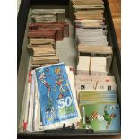 BOX OF FOOTBALL INTEREST TRADE CARDS, TH