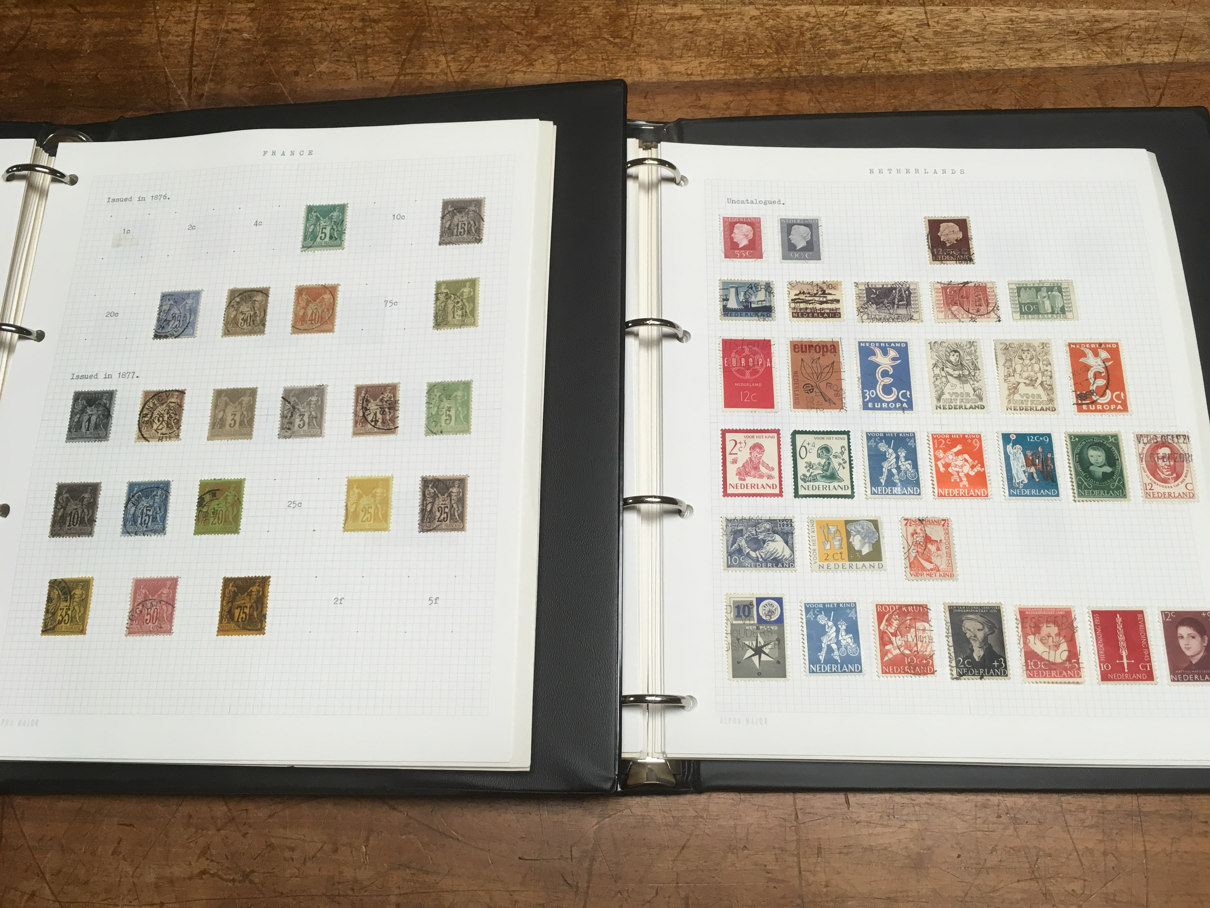 BOX WITH FOREIGN COLLECTION IN TWO BINDE - Image 3 of 3