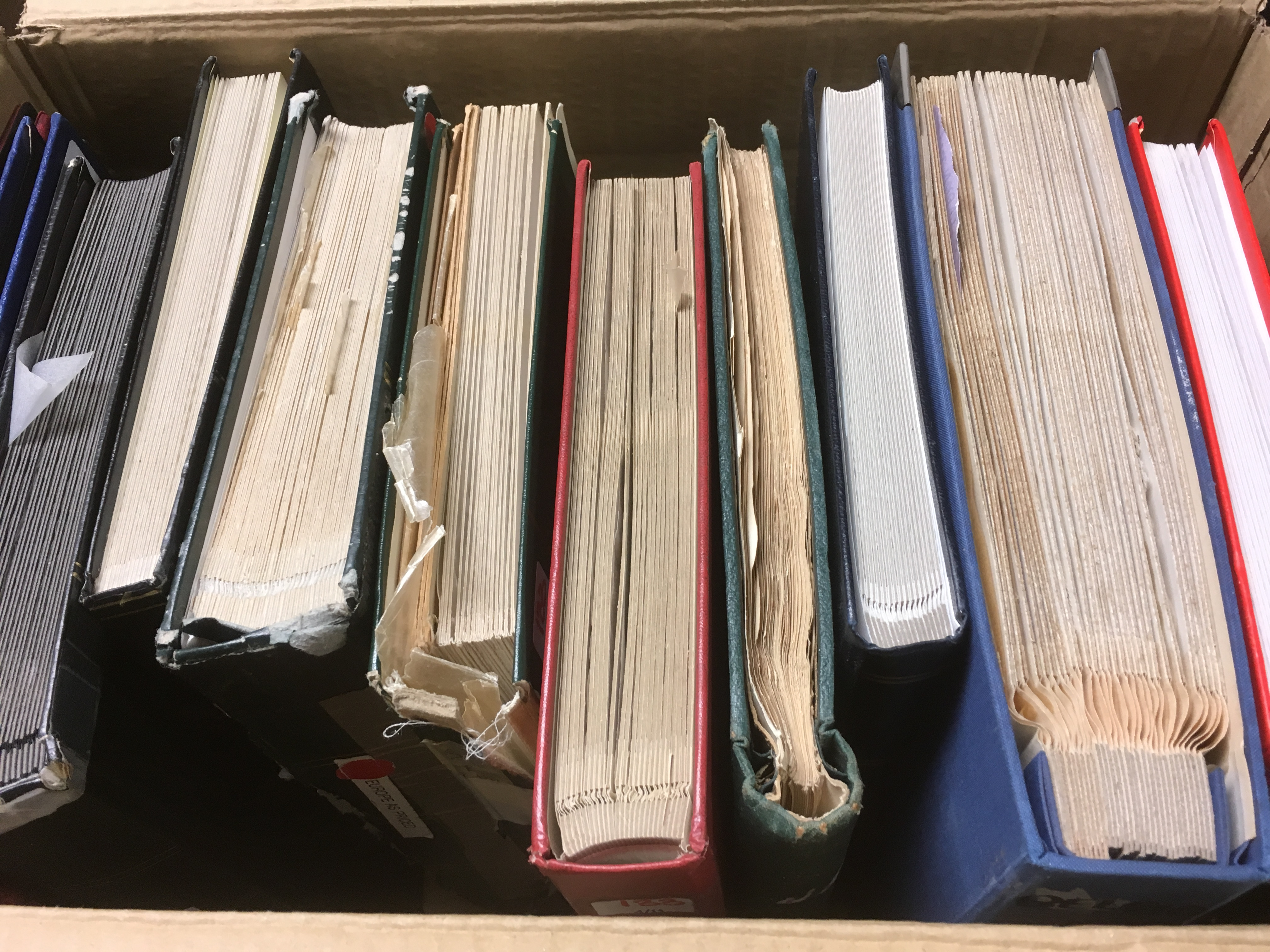 LARGE BOX MAINLY FOREIGN IN ELEVEN VOLUM