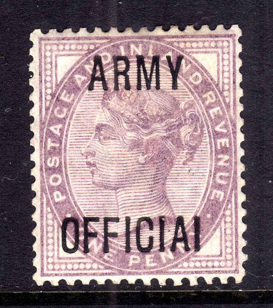 GB: ARMY OFFICIAL 1896-1901 1d 'OFFICAI'