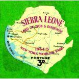 SIERRA LEONE: 1964 WORLD'S FAIR 3d UNUSE