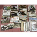 BOX OF WW1 INTEREST POSTCARDS, SENTIMENT