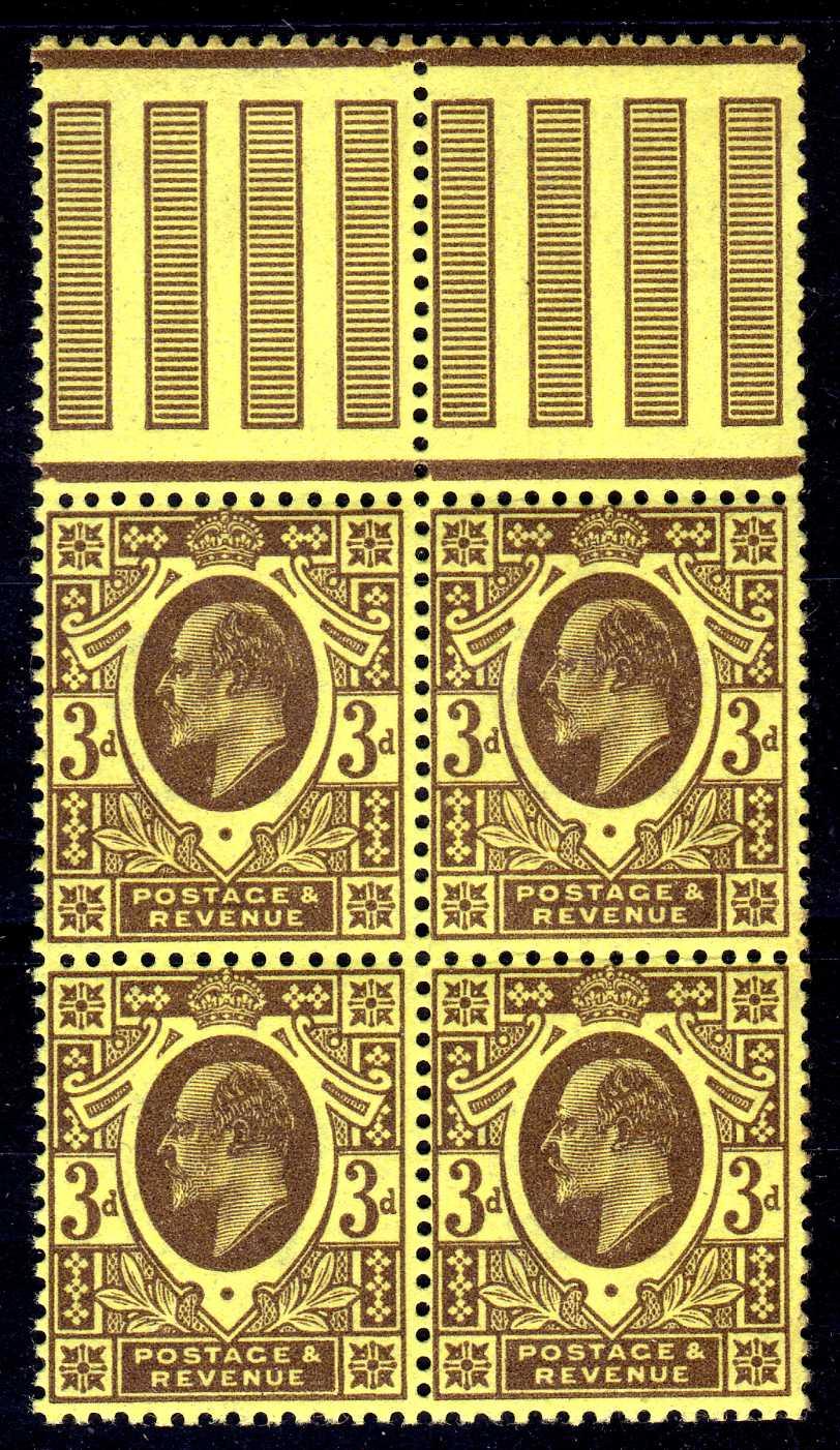 GB: 1911 HARRISON PERF 14 BLOCK OF FOUR