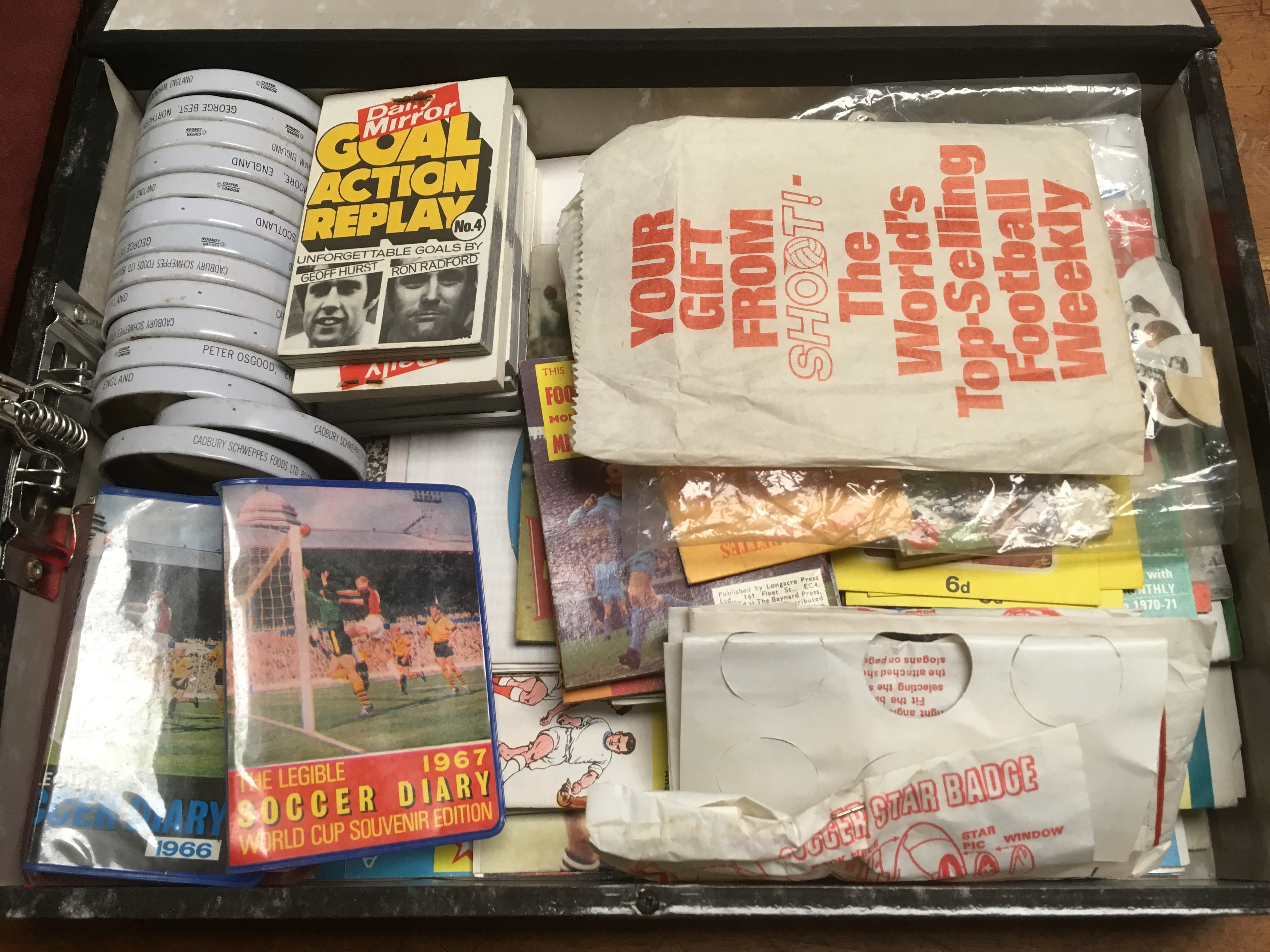 BOX OF FOOTBALL RELATED TRADE AND PUBLIC