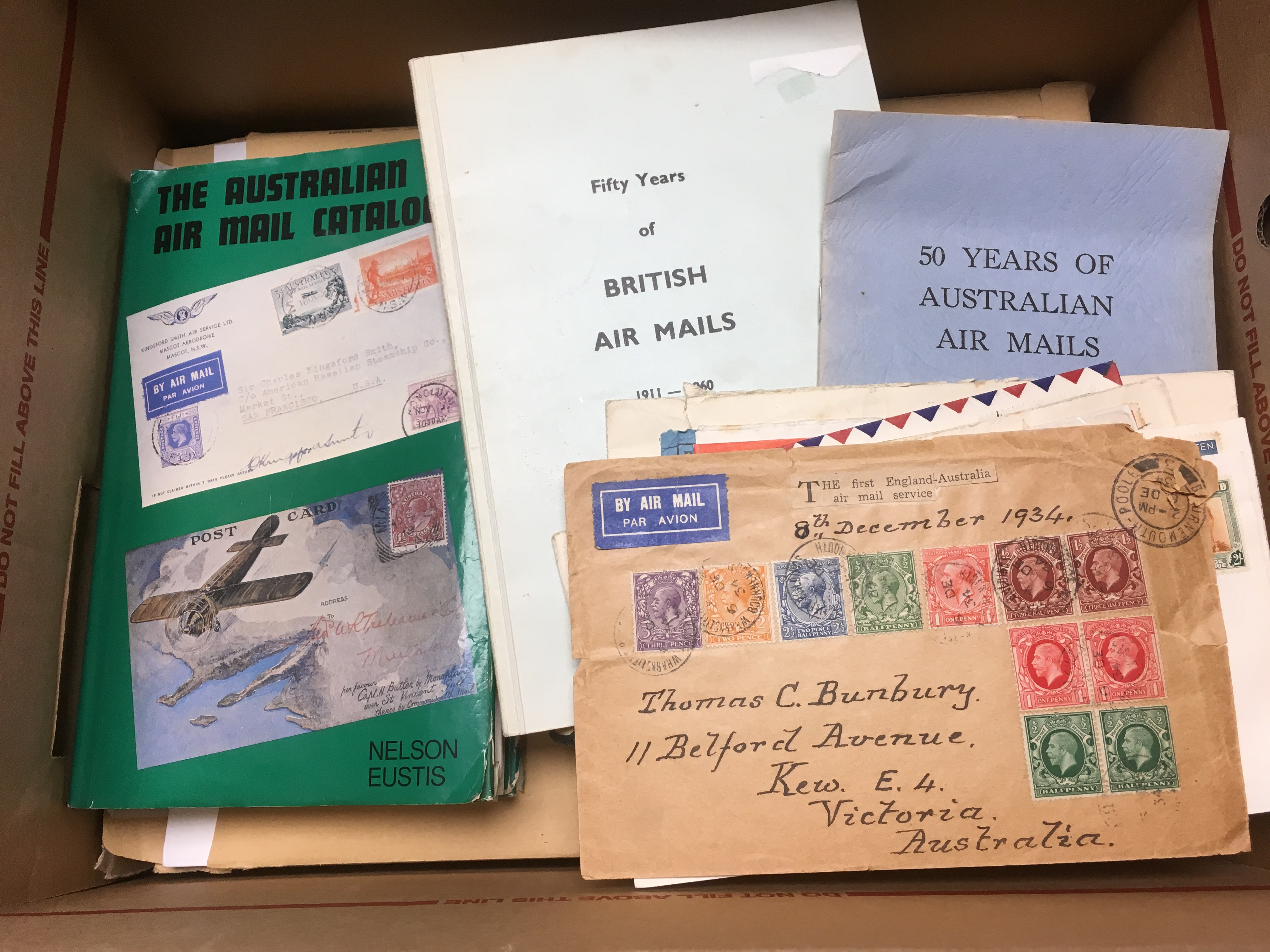 BOX WITH A SELECTION OF AIR MAIL COVERS - Image 3 of 3