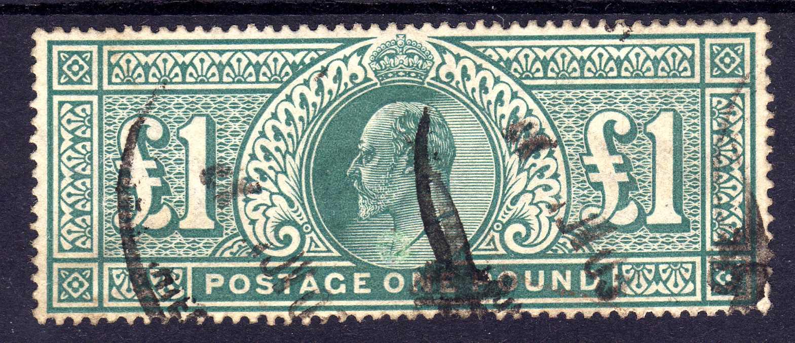 GB: 1902-10 £1 GREEN GOOD USED, SG 266