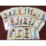 DISNEY THEMED POSTCARDS PRODUCED BY TOBL