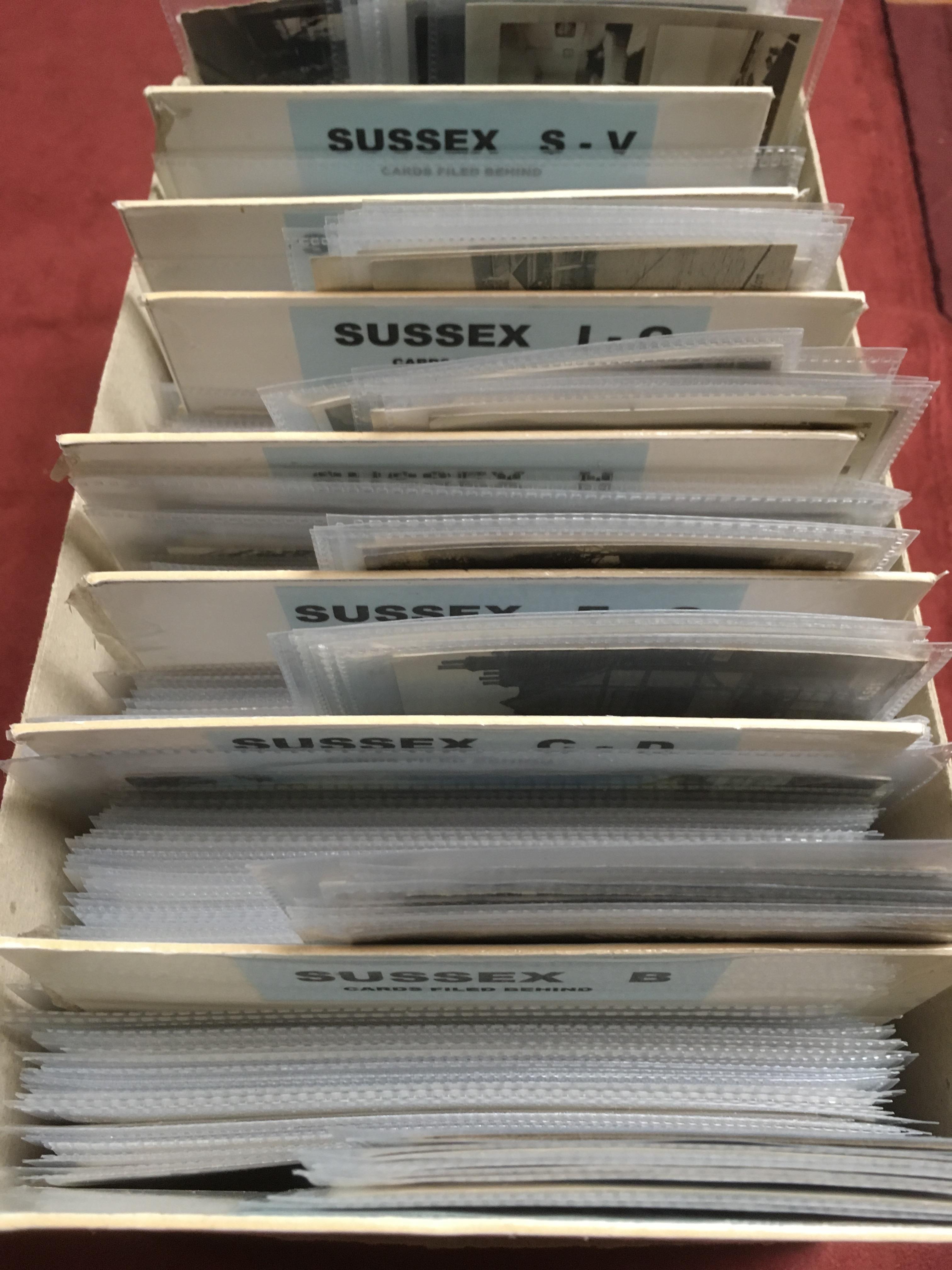 EX DEALER'S POSTCARD STOCK: SUSSEX (APPR