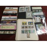 GB: BOX WITH 1980-90 MINT COMMEMS ON LEA