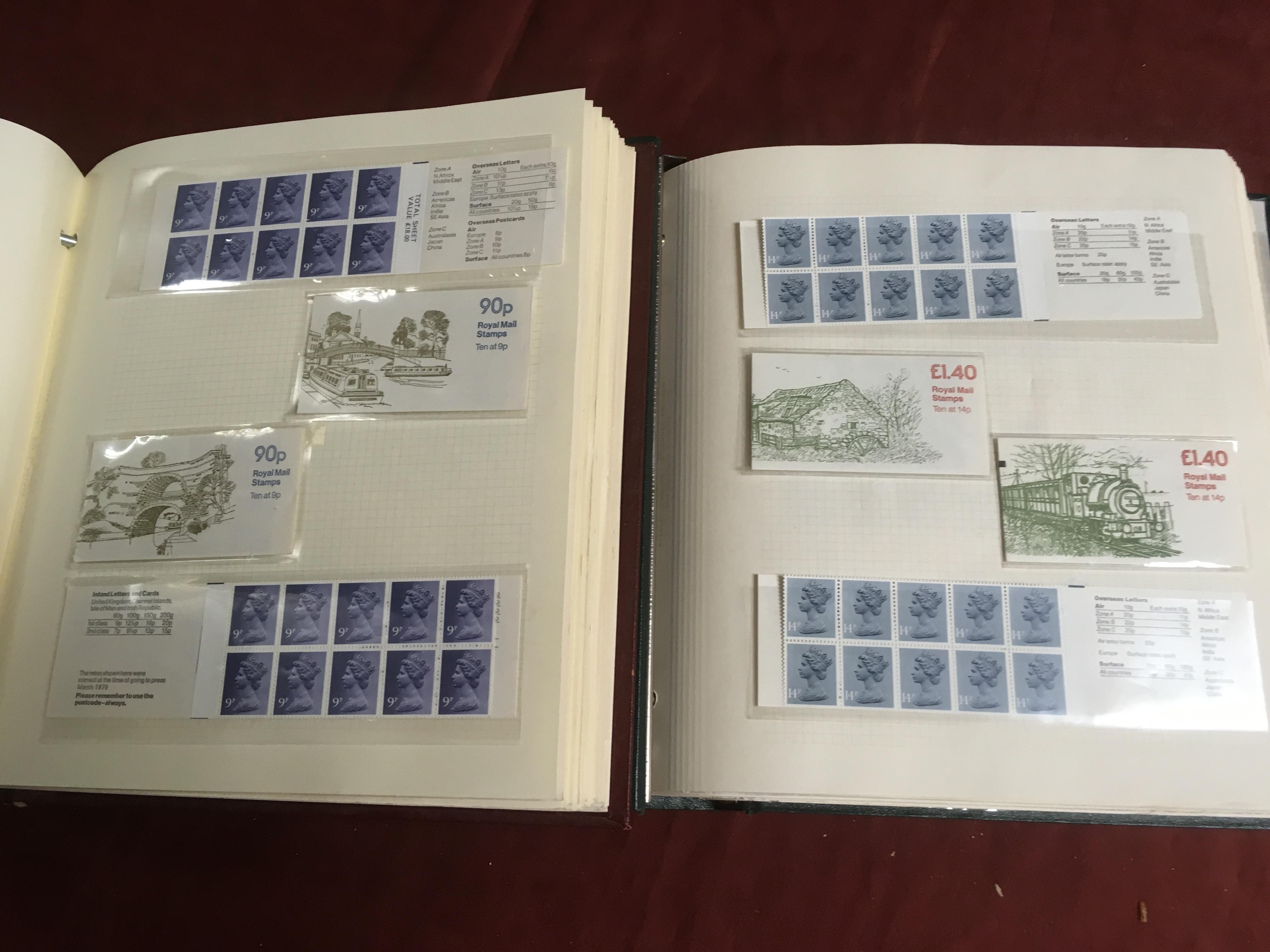 GB BOOKLETS: 1976-89 MACHIN FOLDED 65p -