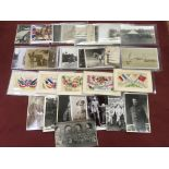 MILITARY POSTCARDS WITH WW1, NAVAL, RP'S