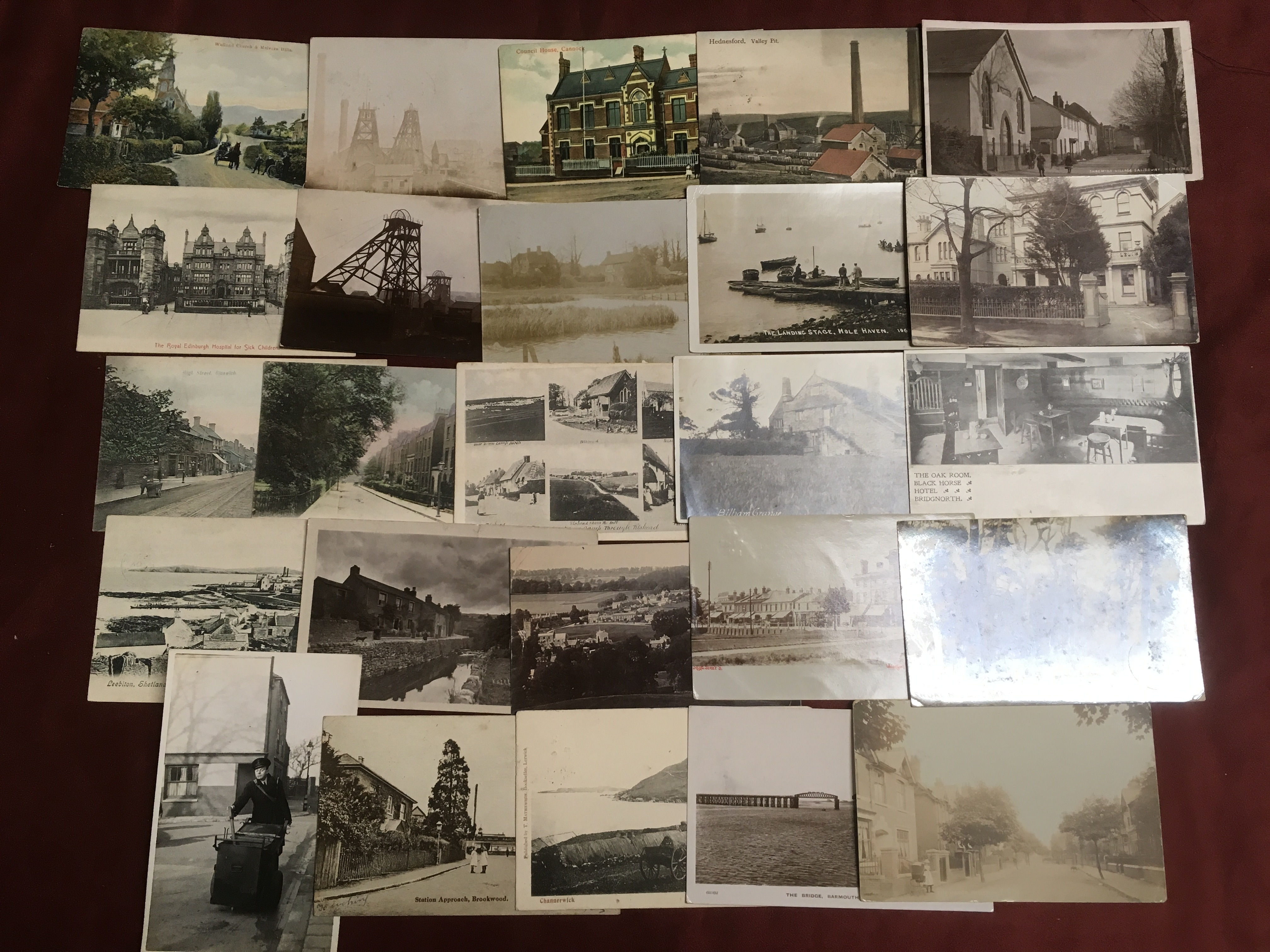 MIXED POSTCARDS INCLUDING CANNOCK MINE R