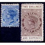 NEW ZEALAND: 1901 POSTAL FISCAL 2/6 COUN