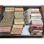 FILE BOX WITH BUBBLE GUM CARDS, MAJORITY