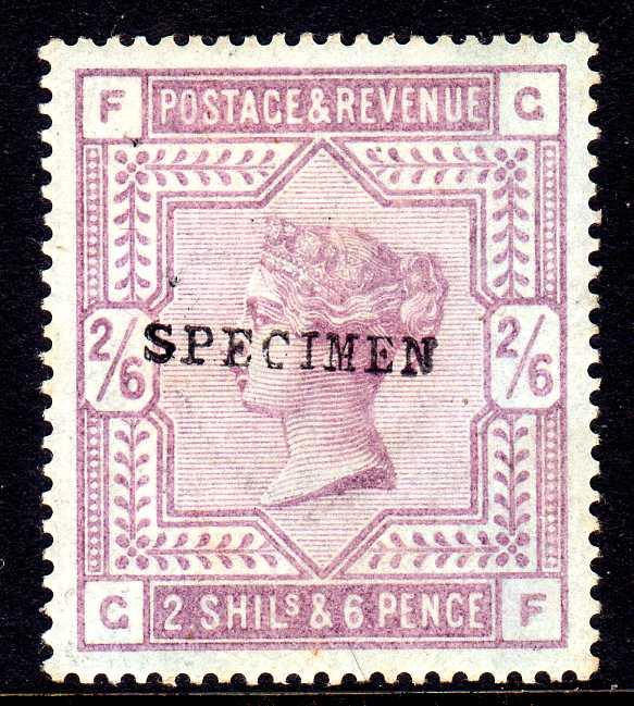 GB: 1883-4 2/6 BLUED PAPER PART OG, PATC