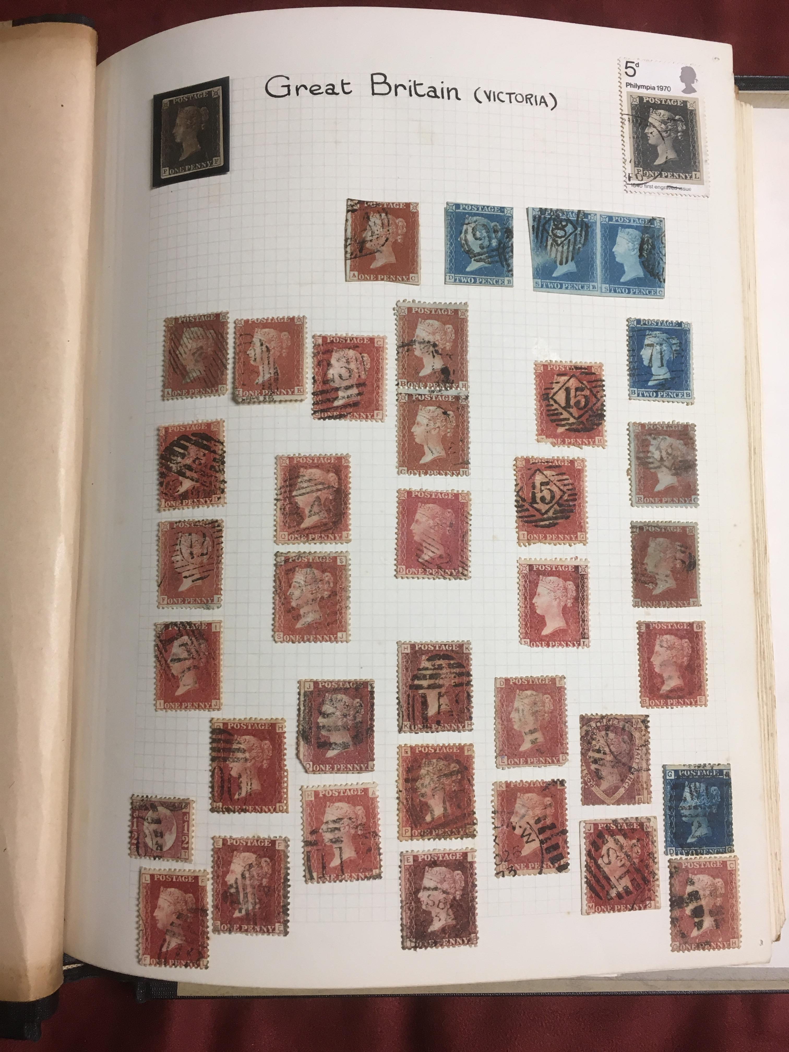 ALBUM WITH A GENERAL COLLECTION, GB WITH