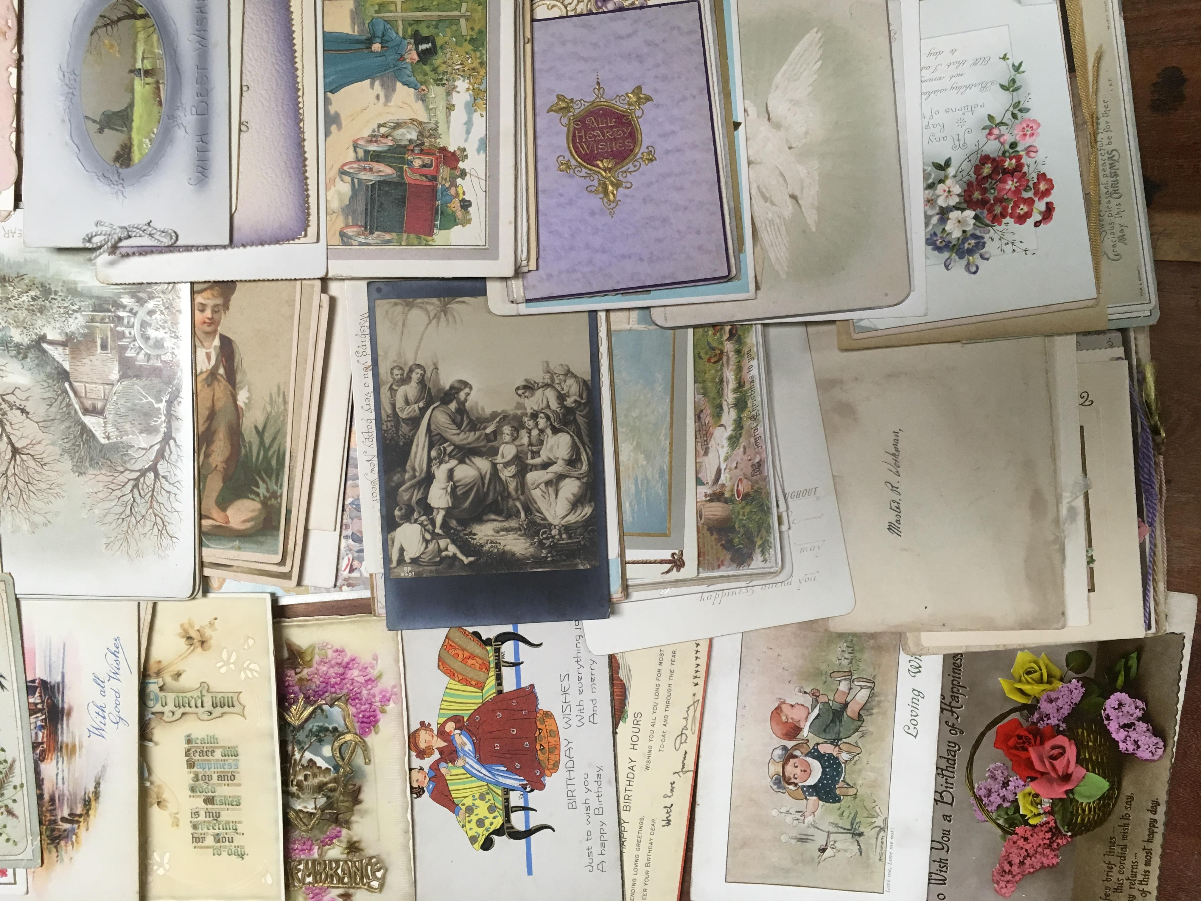 BOX OF VICTORIAN AND LATER GREETINGS CAR - Image 3 of 3