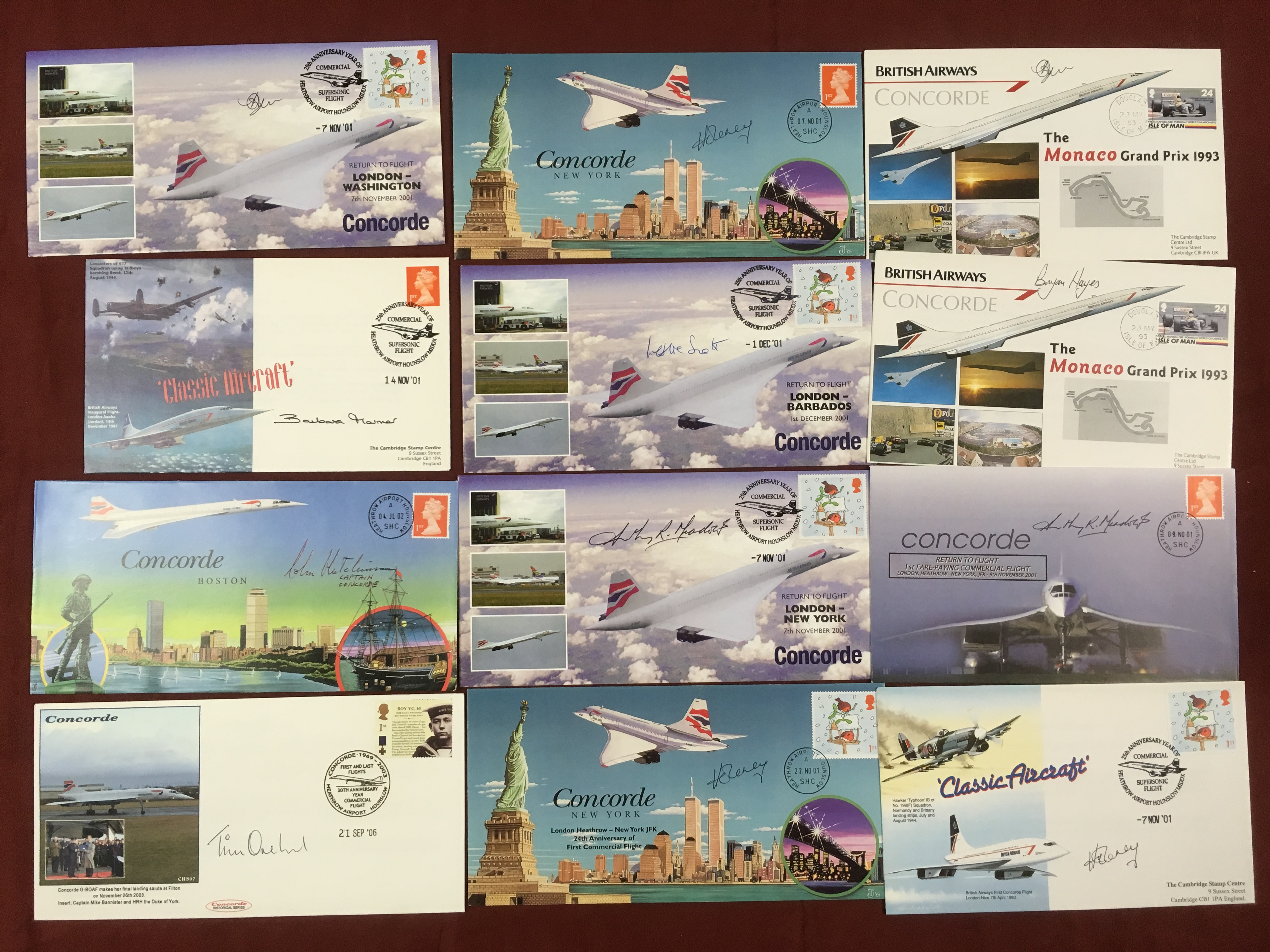 SIGNED COVERS: CONCORDE: BOX OF COVERS, - Image 3 of 3