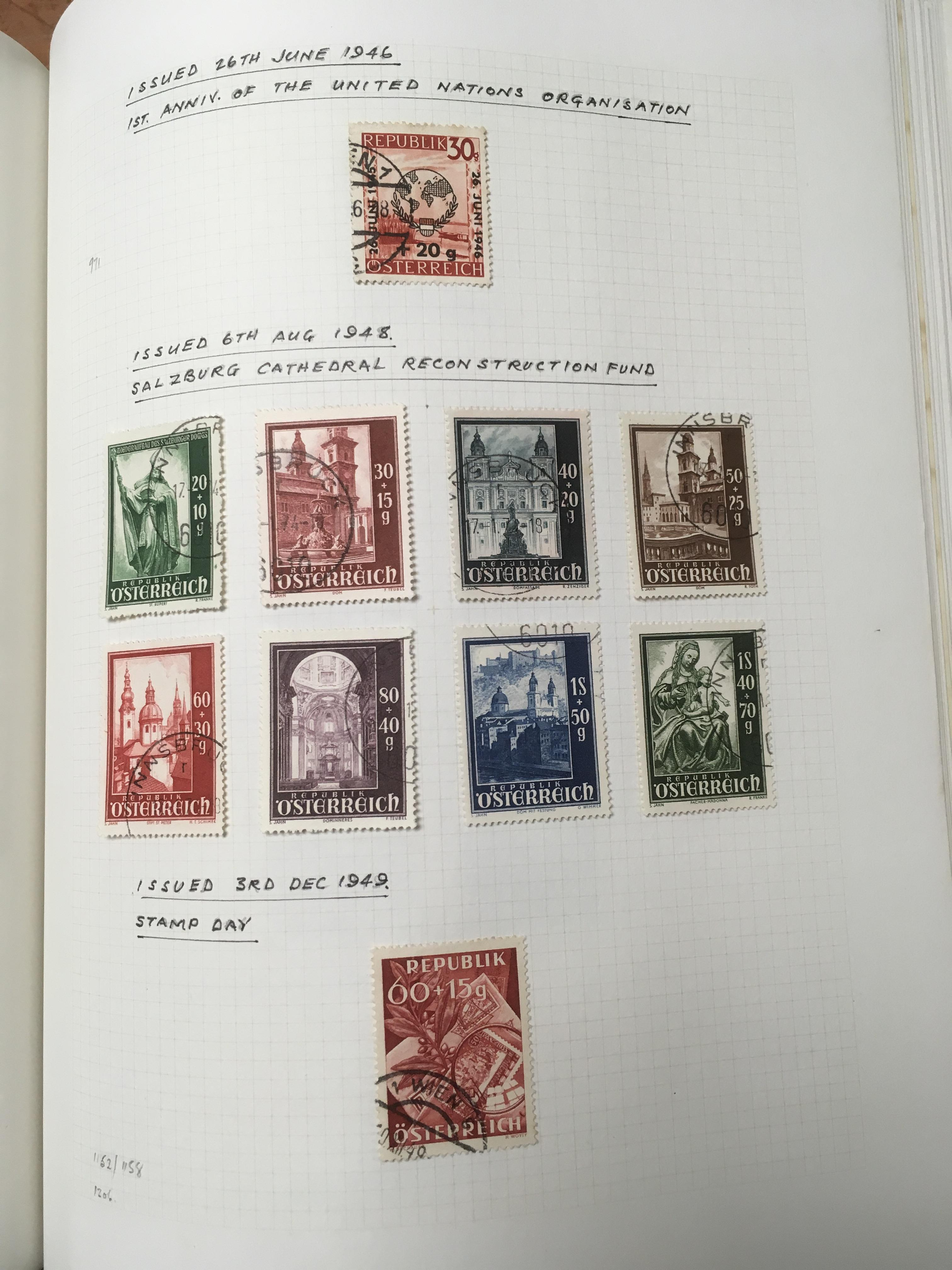 BOX WITH USED COLLECTION OF AUSTRIA, ITA - Image 6 of 6