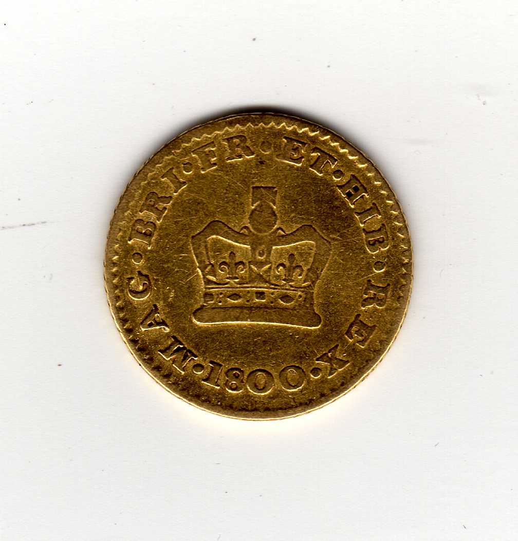 GOLD COINS: GB THIRD GUINEA, 1800.