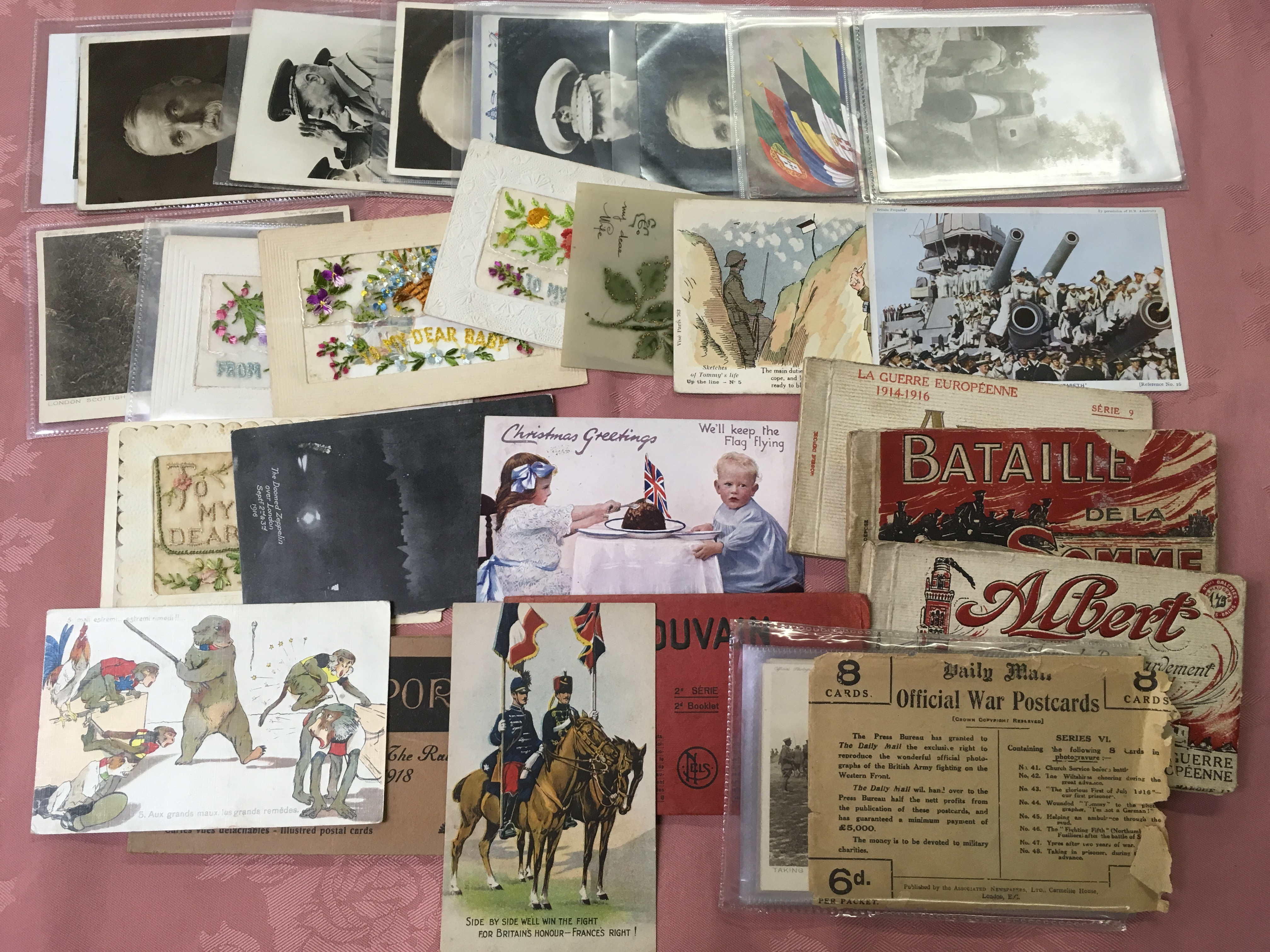 EX DEALER'S POSTCARD STOCK: BOX WITH MIL