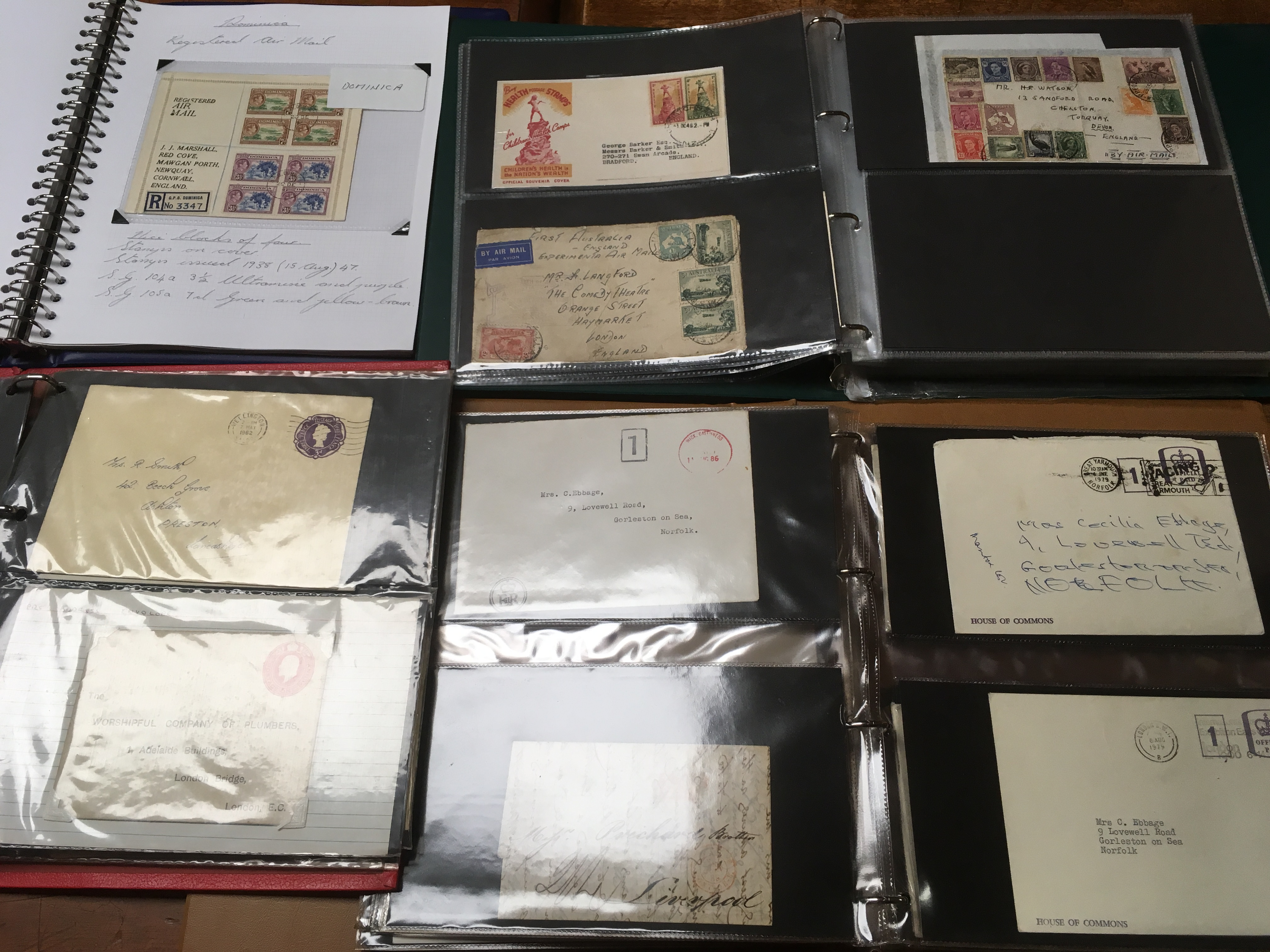 BOX WITH GB AND OVERSEAS COVERS AND CARD - Image 2 of 2