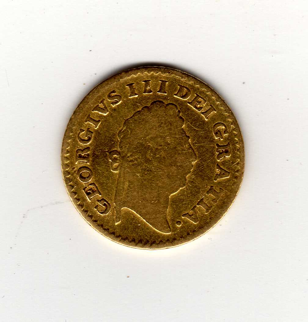 GOLD COINS: GB THIRD GUINEA, 1800. - Image 2 of 2