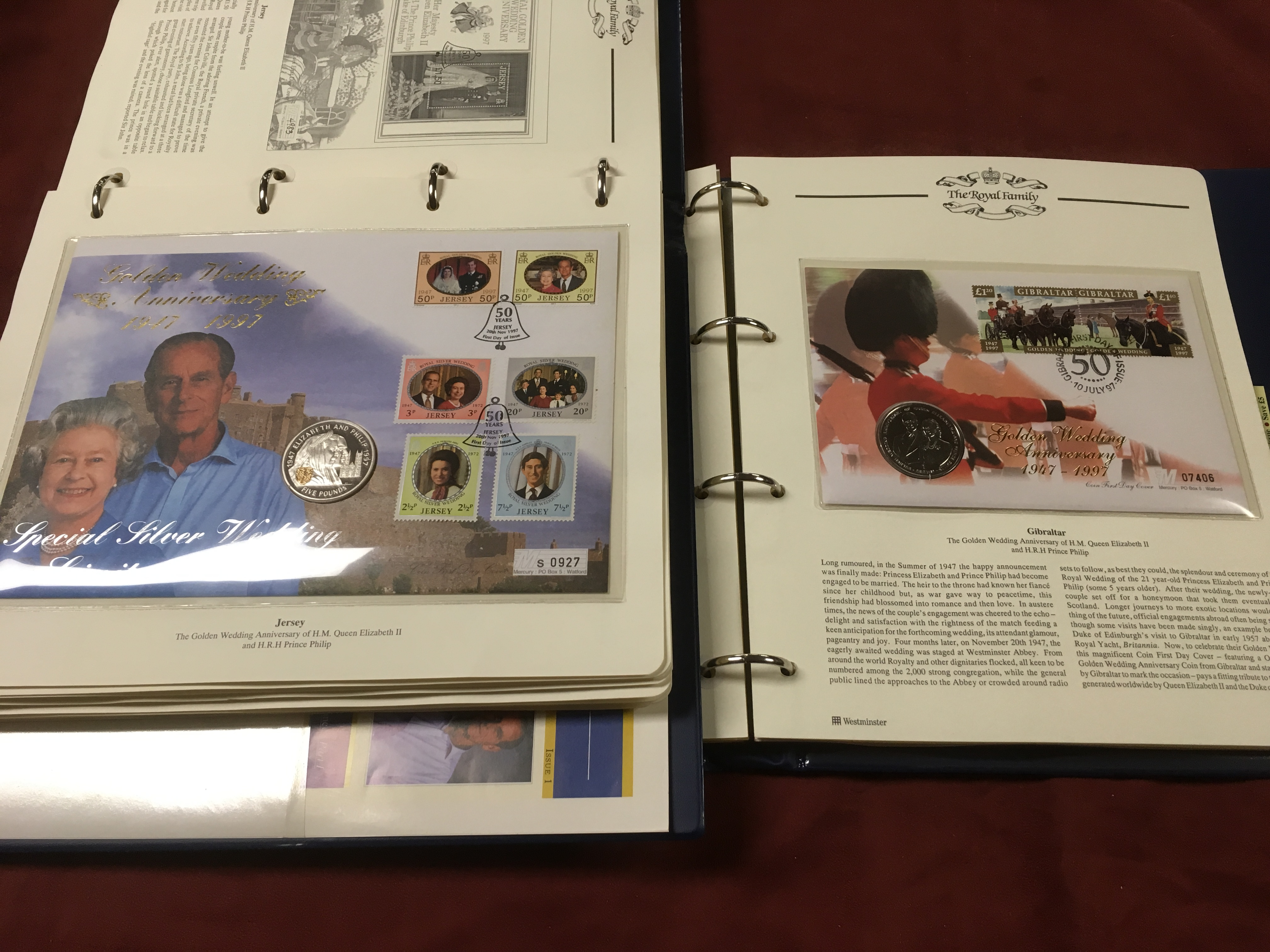 BOX WITH MERCURY COIN COVERS IN FIVE ALB - Image 2 of 3