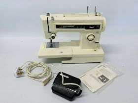 "A FRISTER ROSSMANN ""BEAVER 4"" ELECTRIC SEWING MACHINE WITH FOOT PEDAL INSTRUCTIONS AND COVER - SOLD"