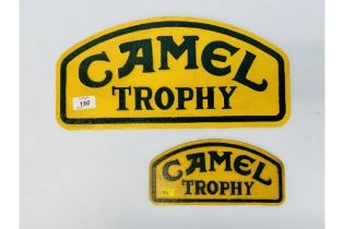PAIR OF CAMEL TROPHY SIGN (R)