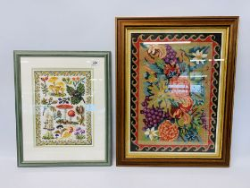 A GROUP OF SIX MODERN FRAMED NEEDLEWORKS