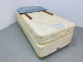 A VI-SPRING HERALD SUPREME SINGLE DIVAN BED PLUS HEADBOARD