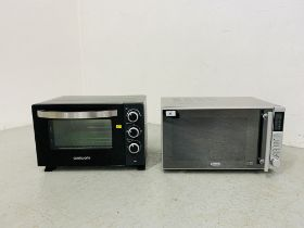 A DELONGHI 900 WATT MICROWAVE OVEN AND A COOKWORKS TABLE TOP OVEN - SOLD AS SEEN